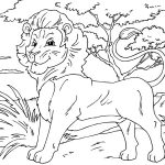 African Animals online coloring