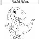 Dinosaur - name coloring page