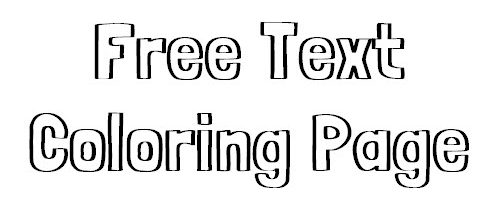 free text coloring page
