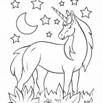 Night Unicorn - name coloring page