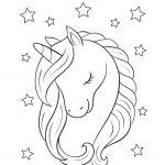 Unicorn Portrait - name coloring page